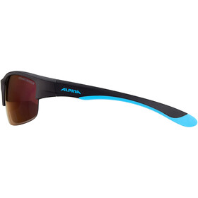 Alpina Flexxy HR Glasses Youth black matt-blue/blue mirror